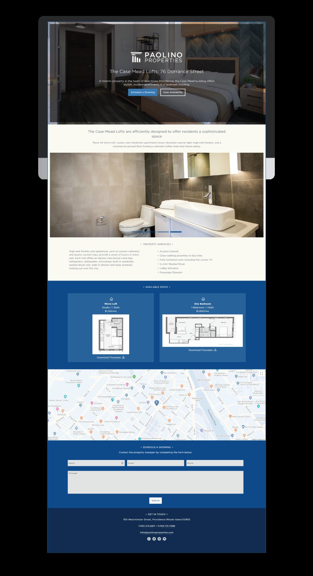 Case Mead Lofts Paolino Property Landing Page